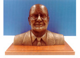 1/2 scale sculpting of a corporate executive cast in bonded bronze