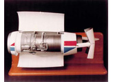 1/4 Scale Thrust reversal model showing clam shell action