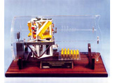 Payload for Space Shuttle dipicted in clear lucite